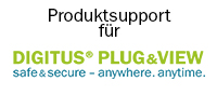 DIGITUS Plug&View Support Banner mit Logo