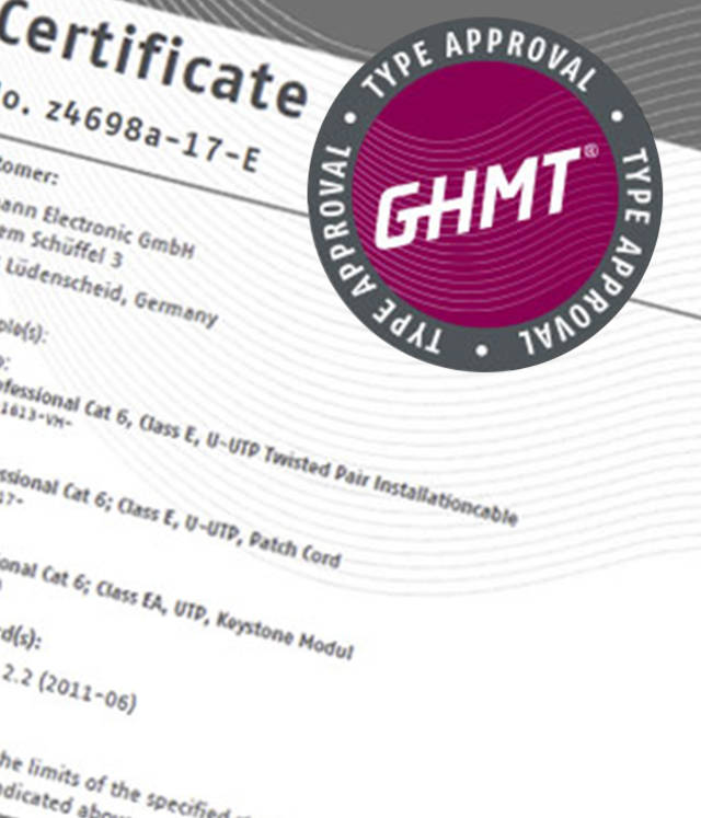 DIGITUS Professional products certified by GHMT.